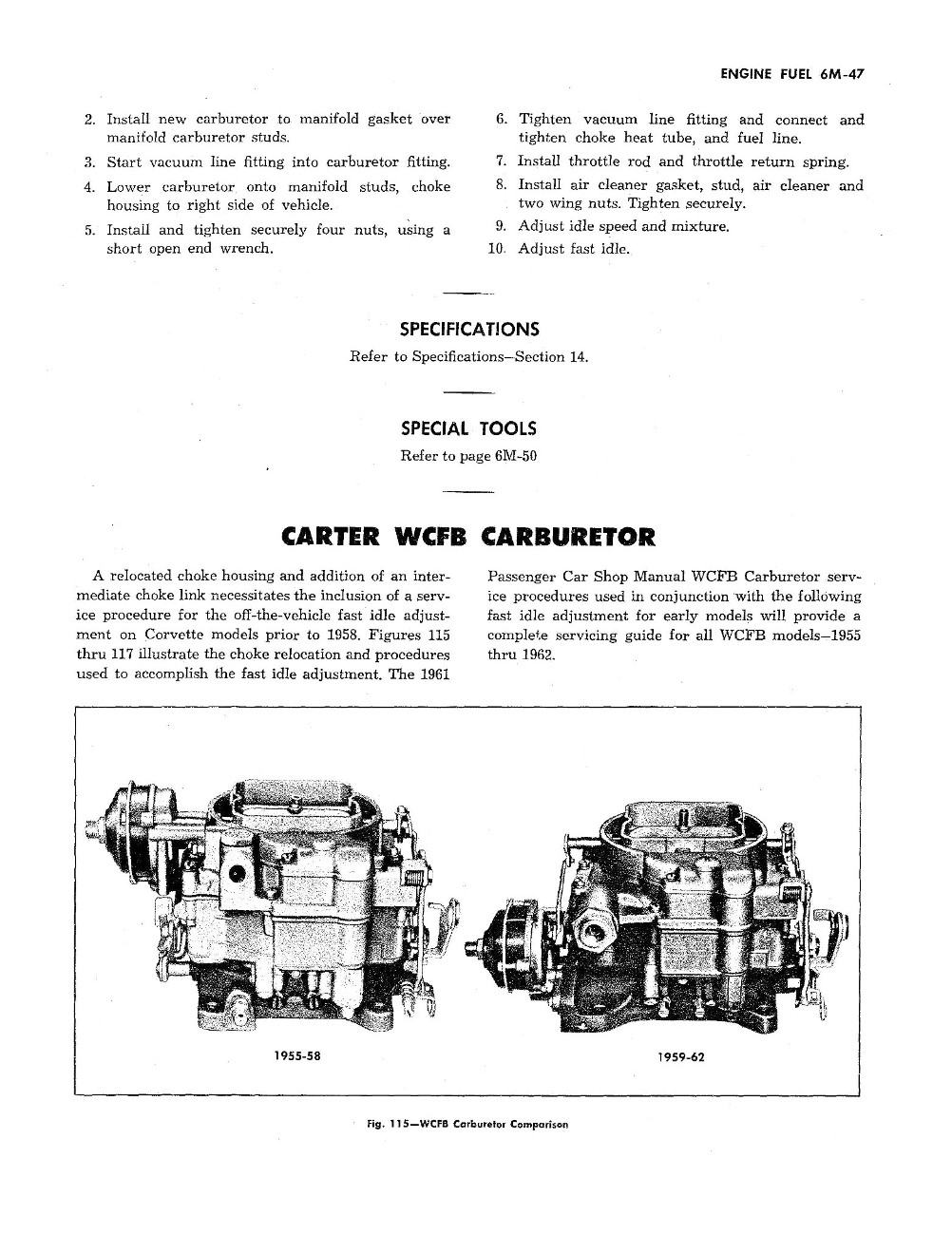1953 - 1962 Corvette Servicing Guide ST-12